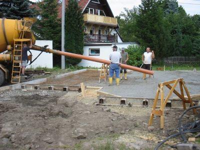 Herstellung Bodenplatten