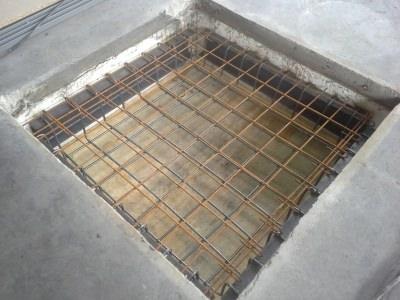 Hochbau Betonbau Deckenöffnung 1,50m x 1,50m x0,50m schließen