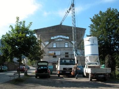 Umbau-Aufstockung mit Behelfsdach
