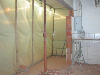 Umbauarbeiten mit Staubschutz