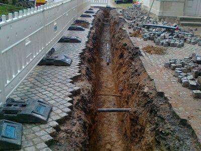 Tiefbau Trinkwasserleitung in Scheibenberg